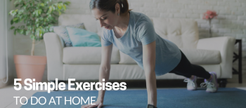 blog image of a woman exercising at home